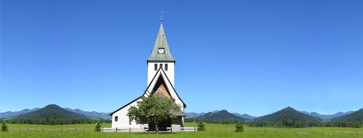 Church with Blue Sky